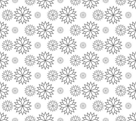 line floral pattern seamless, vector illustration background Ilustrace