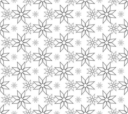 gray flower pattern seamless, line vector illustration backdrop Reklamní fotografie - 128702137
