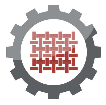 textile industry icon symbol, vector on white background Illustration