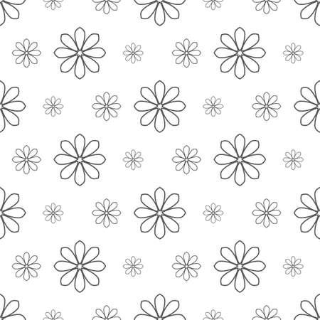 line floral pattern seamless, flora vector illustration backdrop Illustration