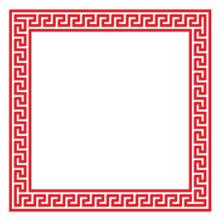 china border frame for text, card