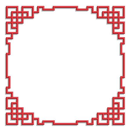 3D chinese border frame 39