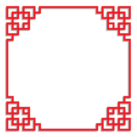 china border frame for text, card, element and corner decoration