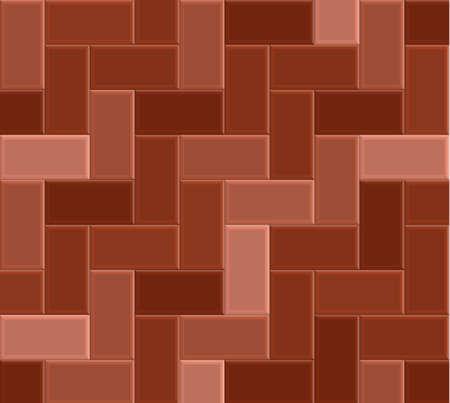 3D brick stone pavement, red pathway vector pattern, sidewalk texture