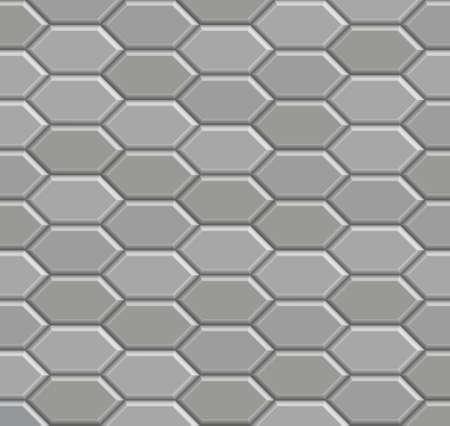 3D brick stone pathway pattern