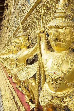 Guardian at thai temple, Stock Photo