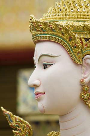 Face of Kinnari Stock Photo