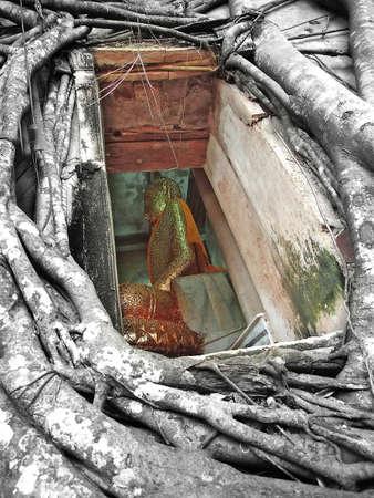 Buddha statues in Kanchanaburi,