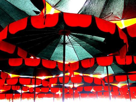 The Row Of Umbrella, Stock Photo