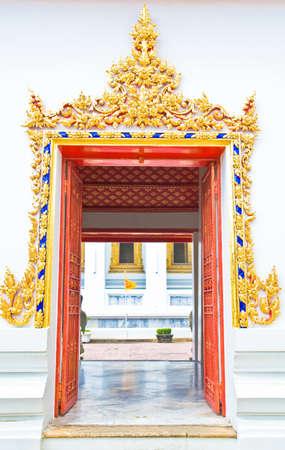 The Door of Thai Temple,