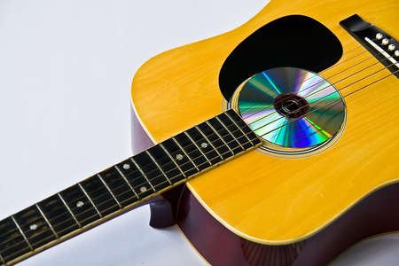 Acoustic guitar, Stock Photo