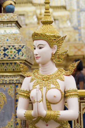 Kinaree is thai angel, a mythology figure, is watching the temple
