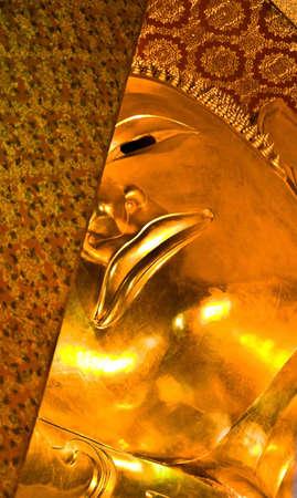 Reclining Buddha statue in Thailand Buddha Temple Wat Pho , Asian style Buddha Art photo