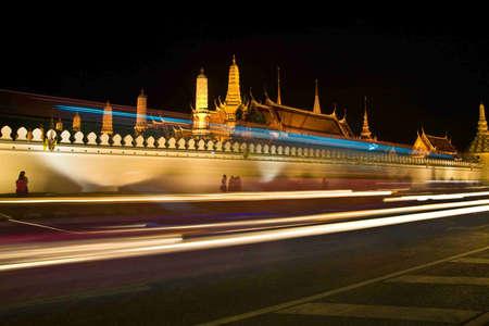 Wat Phra Kaew Royal Palace at night, Bangkok, Thailand Stock Photo - 12445684