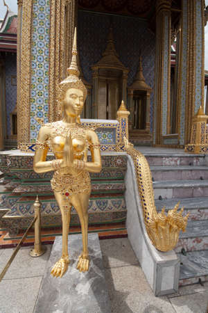 Statue of a kinnaree in Wat Phra Kaew, Bangkok, Thailand