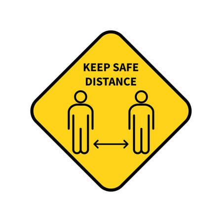 Social distancing. Keep the 1-2 meter distance. Coronovirus epidemic protective. Vector illustration 矢量图像