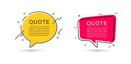 Quote frames templates set. Vector illustration Ilustrace