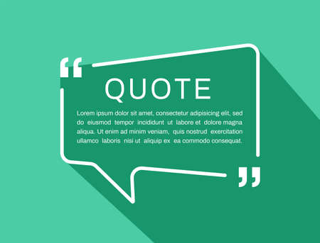 Quote frames. Quote box. Vector illustration