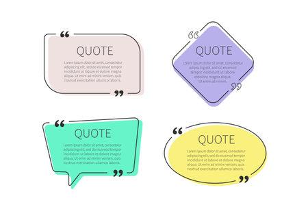Quote frames set. Quote box. Vector illustration Ilustrace