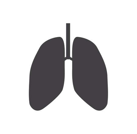 Lung icon isolated on white background. Health and medical Concept. Vector illustration.