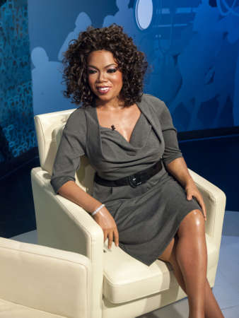 Oprah Winfrey wax statue at the famous Madame Tussaud