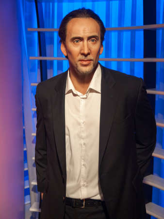 nicolas: Nicolas Cage wax statue at the famous Madame Tussaud Editorial