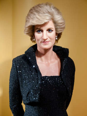 lady diana: Diana, Princess of Wales wax statue at the famous Madame Tussauds museum in Bangkok, Thailand.