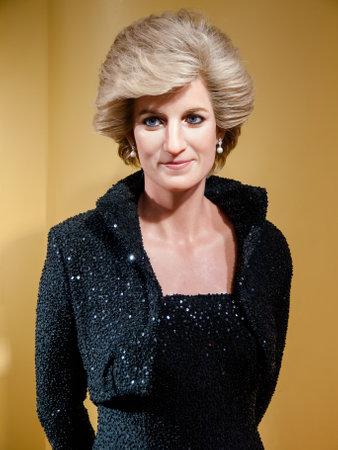 Diana, prinses van Wales wassen beeld in het beroemde museum van Madame Tussaud's in Bangkok, Thailand. Redactioneel