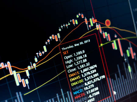 Stock Market Chart on led screen Stock Photo - 20459533