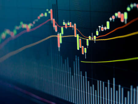 Stock Market Chart on led screen Stock Photo - 20459535