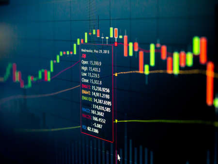 Stock Market Chart on led screen Stock Photo - 20459536