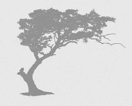 boom grafisch silhouet grijze kleur achtergrond