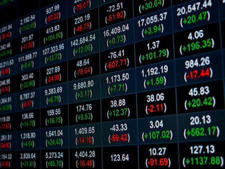 Stock Market Price Chart on led screen Stock Photo - 21647350