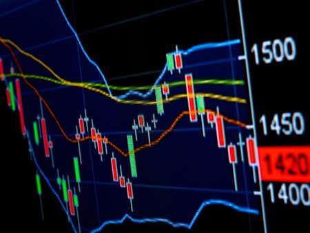Stock Market Chart on led screen Stock Photo - 21647352