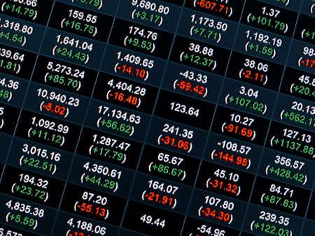 Stock Market Price Chart on led screen Stock Photo - 21647353