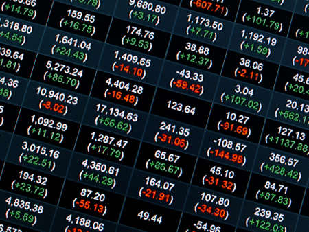 Stock Market Price Chart on led screen Stock Photo - 21647353