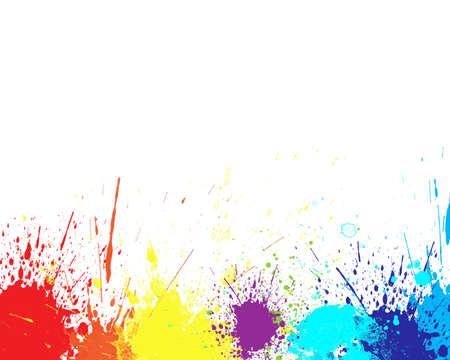 Color splash in abstracte op een witte achtergrond