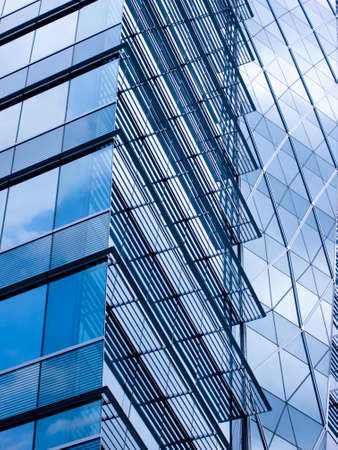 commercial real estate: window glass reflection of cloudy sky abstract background