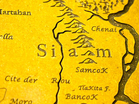 Siam geography map old name of Thailand