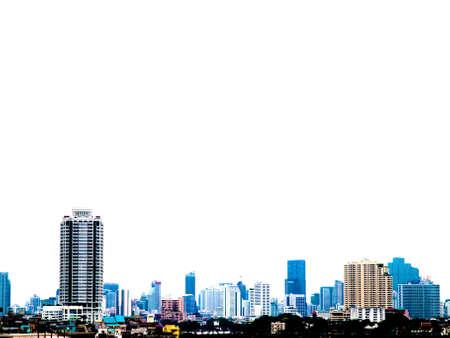 urban cityscape modern building on a white background Stock fotó