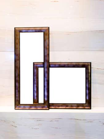 Abstracte doos met omlijsting op duidelijke achtergrond Stockfoto