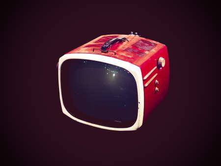 Retro TV op een vintage stijl