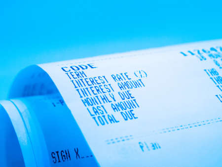 receipt paper a description of interest rate photo
