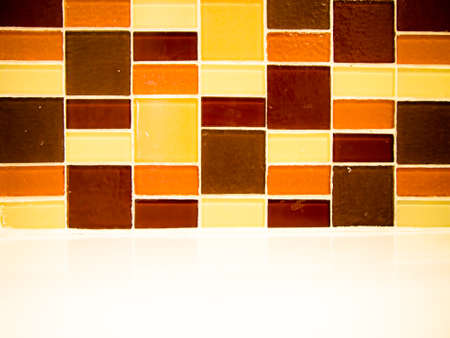 pattern brown square tire wall