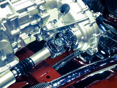 engine compartment: close up car engine compartment