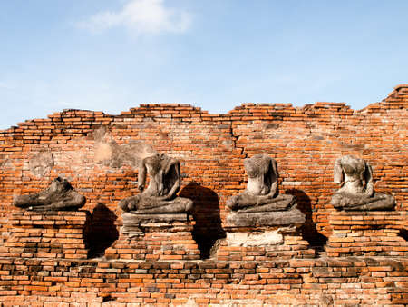 stone buddha: Broken Buddha statue at Ayuttaya, Thailand