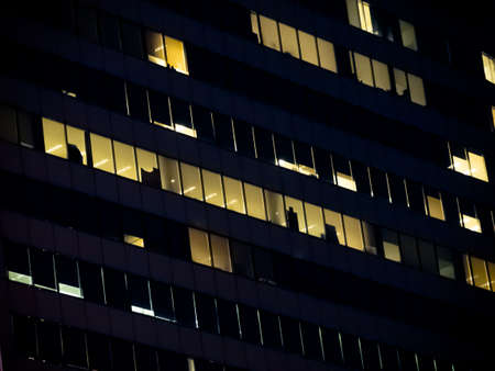 Business Office building at night
