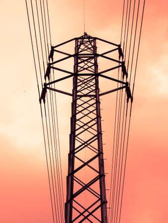 high voltage power lines background