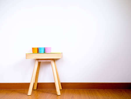 colorful cup on table home decorate