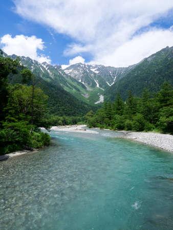 Beautiful summer landscape in Japan Stock Photo